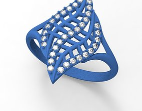 3D printable model palm ring