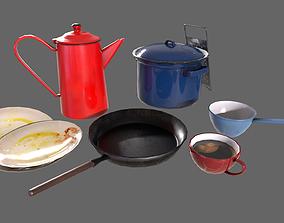 Minor Kitchen Decorations 3D model VR / AR ready