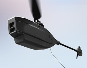 3D Render Black Hornet 2 PRS PD 100 Nano UAV Micro