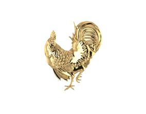 3D print model chicken pendant
