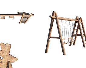 Swing wooden 3D