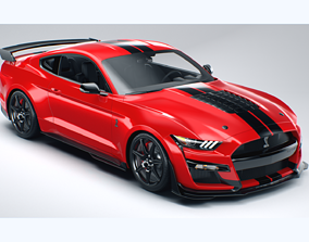 mustang shelby GT500 2020 3D