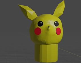 pikachu pencil head 3D printable model