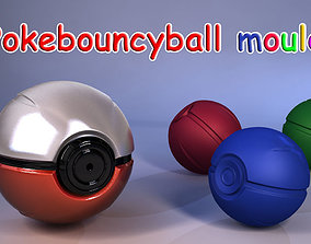 3D print model Pokemon bouncyball mould 2-in-1