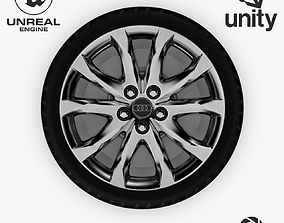 Wheel Steel-Chrome Alloy Rim Audi 19 inch 3D asset 2