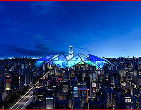 Modern City Animated 121 3D