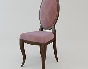 3D Antique Armless Chair