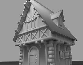 Medieval Habitation 3D asset