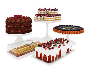 Fruit berry cake collection 2 3D model