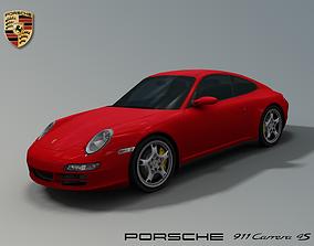 3D asset Porsche 911 Carrera 4s 997