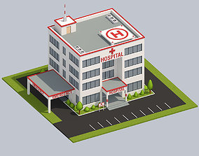 3D model Low Poly Hospital
