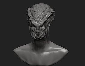 Alien Head 3 3D print model