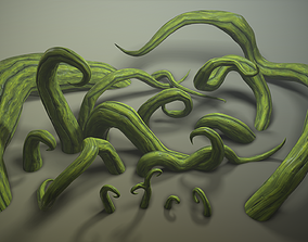 Stylized roots pack 3D asset