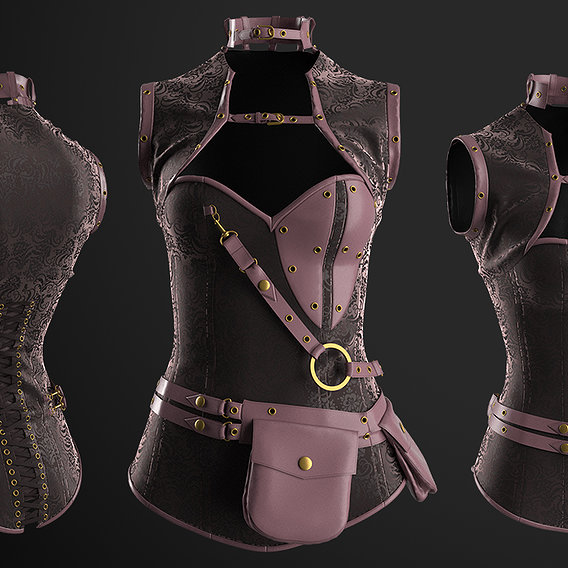 Steampunk Corset in Marvelous Designer