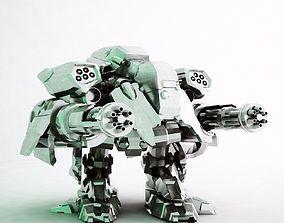 Destroyer Robot 3D model realtime