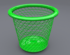 3D model trash can 6