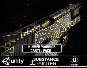 3D asset Kimber Warrior M1911 Cartel Pack