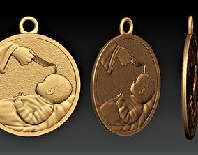 Baptism Medal 3D print model