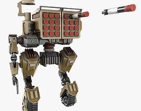 3D model Cartoon Robot Turret