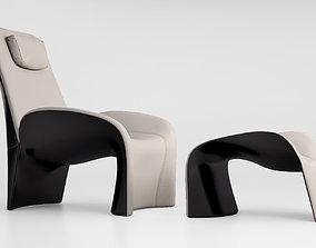Giorgetti Eva armchair pouff 2014 3D
