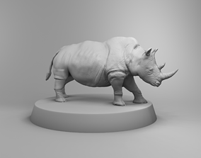 3D print model African rhino
