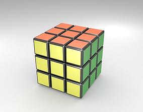 3D asset VR / AR ready Rubiks cube