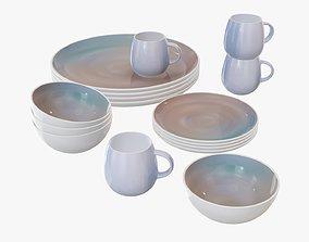 Dinnerware set 03 bowl mug platter dinner plate 3D