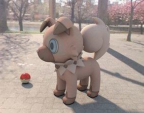 3D model Pokemon Rockruff