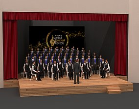 3D model Orchestra Stage Decor 100