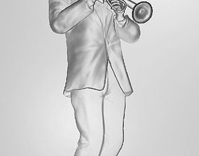 3D printable model Trumpet Player
