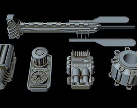 3D Starship Greeble collection 2