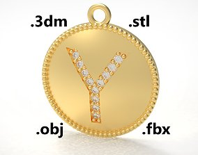 Model 187 Alphabets Necklace The Letter Y Necklace 1