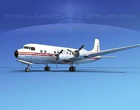Douglas DC-6 Canadian Pacific 3D