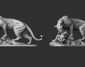 Panther Sculpture 3D print model