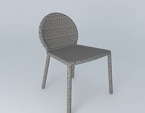 Janus et Cie Strada Side Dining Chair 3D