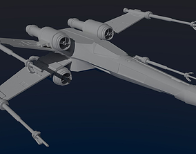 3D T-65 X-Wing Fighter