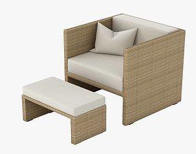 3D Outdoor Lounge Armchair 001