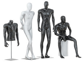 3D Faceless male mannequins 33