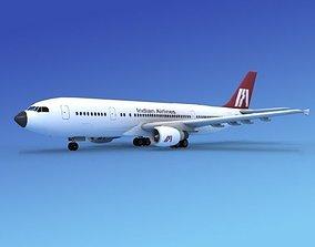 3D model Airbus A-300 India Airways