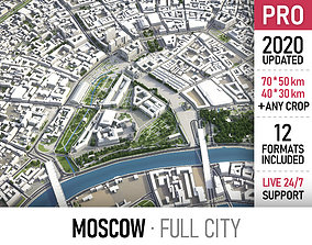 3D asset Moscow - city and surroundings