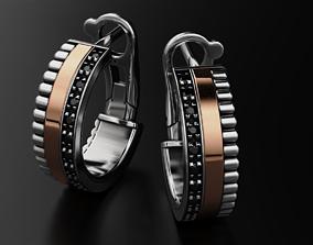 3D print model Earrings with diamonds 588