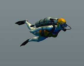 3D printable model Girl diver
