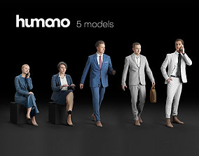 Humano 5-Pack - Business OFFICE - 5x 3D models 01-A