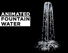 3D Animated splashing fountain water simulation