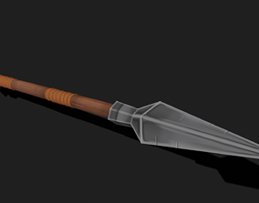 3D model Fantasy Hand-painted spear