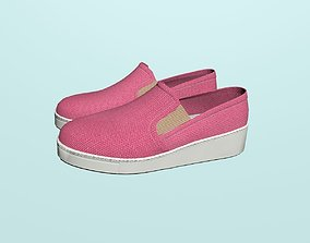 Pink loafers 3D