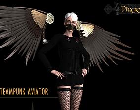 3D asset Steampunk Aviator