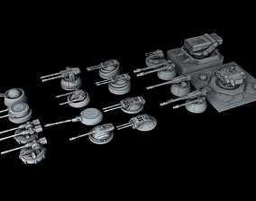 3D Ship Gun Pack