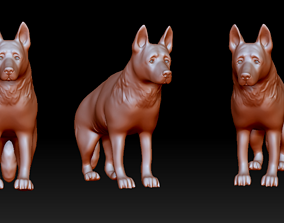 German shepherd figurine 3D print model