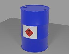Steel Drum Gas - Barrel - Tambor de Gasolina 3D asset